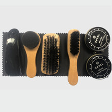 7X Schoenen Shine Care Kit Polijsten Tool Transparante Polish Brush Set Voor Lederen Jassen Schoenen Sneakers Laarzen Cleaner ML039(China)