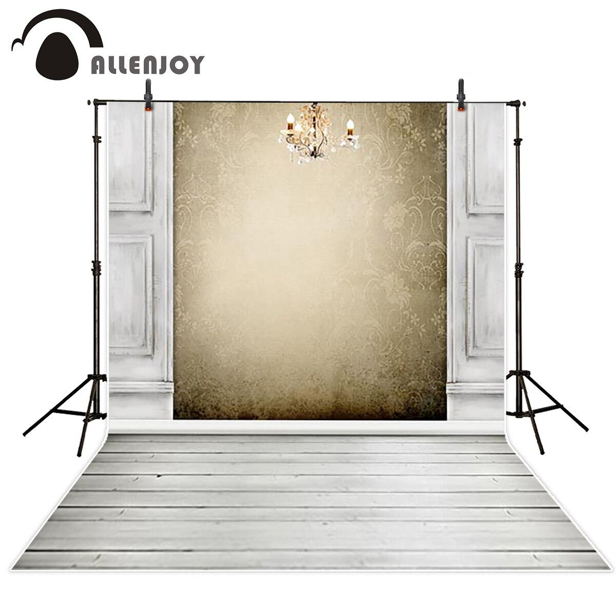 Allenjoy brown damask wall wood floor photography backgrounds vintage custom portrait backdrop photo studio photoshoot booth