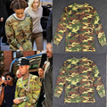 2016Long-sleeved T-shirts Brand New Men Women hba Pyrex YEEZUS Hiphop Casual Camouflage yeezy SEASON 2 Kanye West Tee Shirts
