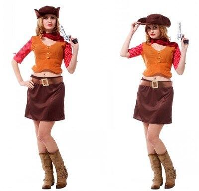 3c5062f43a Señoras Purim traje vaquero occidental Cosplay para adultos traje mujer  ropa para Halloween partido en de en AliExpress.com