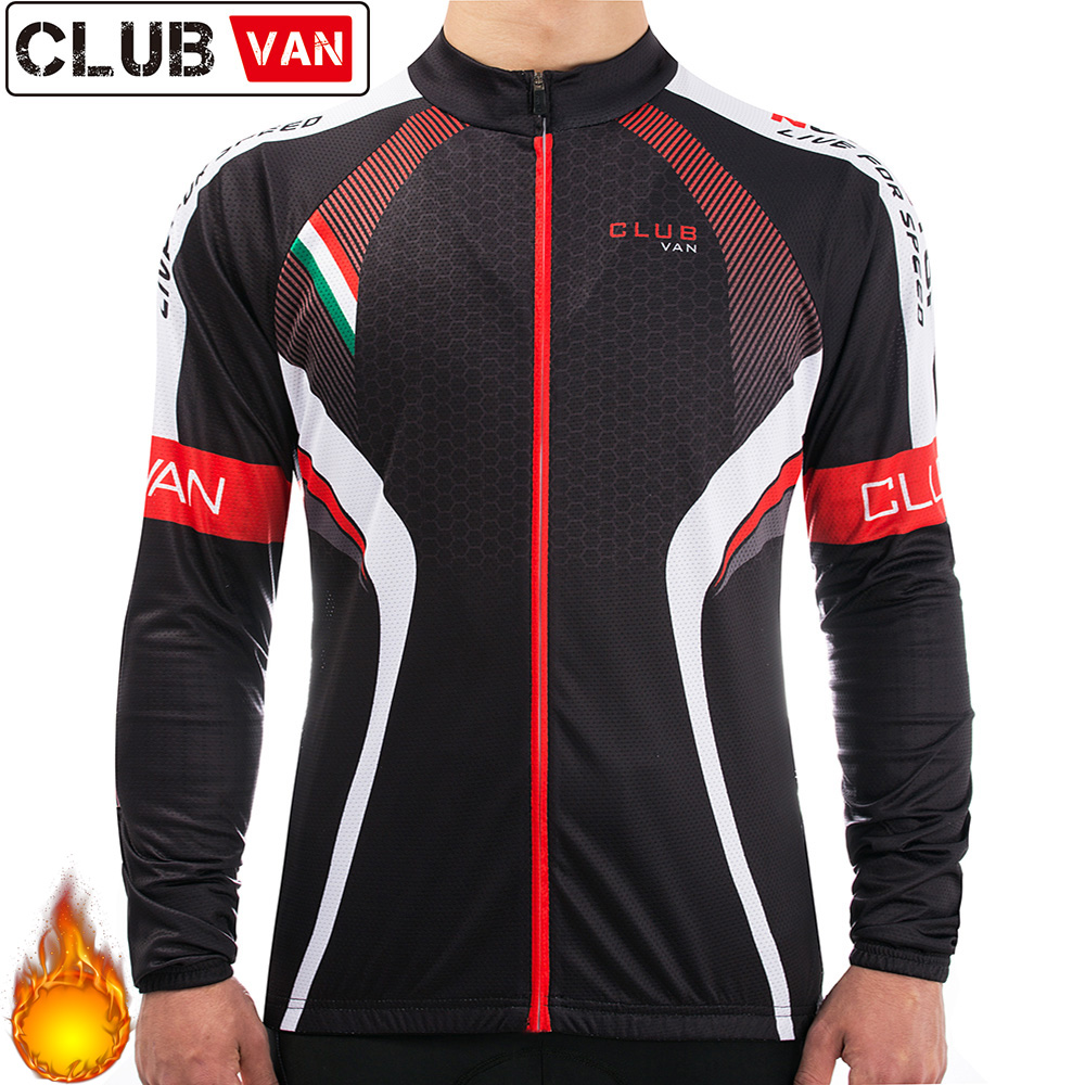 CLUBVAN black Men Pro Long Cycling Jersey Riding Clothing MTB Racing Bicycle Clothes Wear Ropa Ciclismo Bicycle Clothing