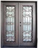 Sprzedaż hurtowa kutego żelaza drzwi wejściowe żelazne żelaza podwójne drzwi wejściowe żelazne żelaza drzwi wejściowe żelazne żelaza drzwi wejściowe na sprzedaż hc13