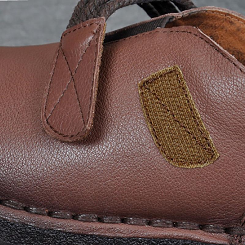 De Mocassins Noir Chaussures Vintage Cuir Souples Main Cousu Simples Folk pourpre Printemps Femmes Semelles Confortable Épais Automne Style marron Et Art En CnwnUHqP