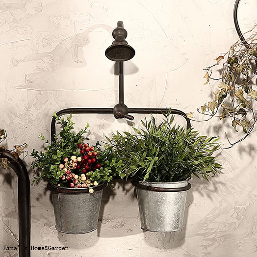 Very industrial vintage retro metal faucet wall planter pot-in Flower  DR77