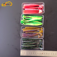 24 pcs 5g 10cm Paillette Fishing Lure Artificial Soft bait Carp Crankbait Fishing accessories