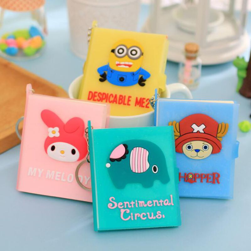 60 Pages Mini Cute Cartoon Notepad Notebook Paper DIY Stationery Post Sticky Notes Stickers Kawaii Scrapbooking Office Supplies