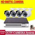 Visión nocturna de HD 900TVL Impermeable sistema de cámaras de Vigilancia de vídeo CCTV AHD DVR Kit 8 canales 1080N 960 H Grabador DVR sistema