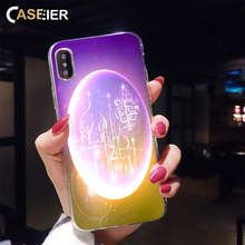 CASEIER Lantern Lamp Ramadan Case For iPhone X 7 8 6 6S Plus Moon Pattern Case For iPhone X XR XS MAX 5 5C 5S SE 4S Back Cover stylish maya pattern carbonized bamboo back case for iphone 5c yellow brown