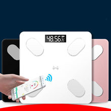 Digital Body Weight Bathroom Scale Floor With Step-On Technology Bluetooth Smart Body Fat 3 Color Measuring Tools Scales(China)