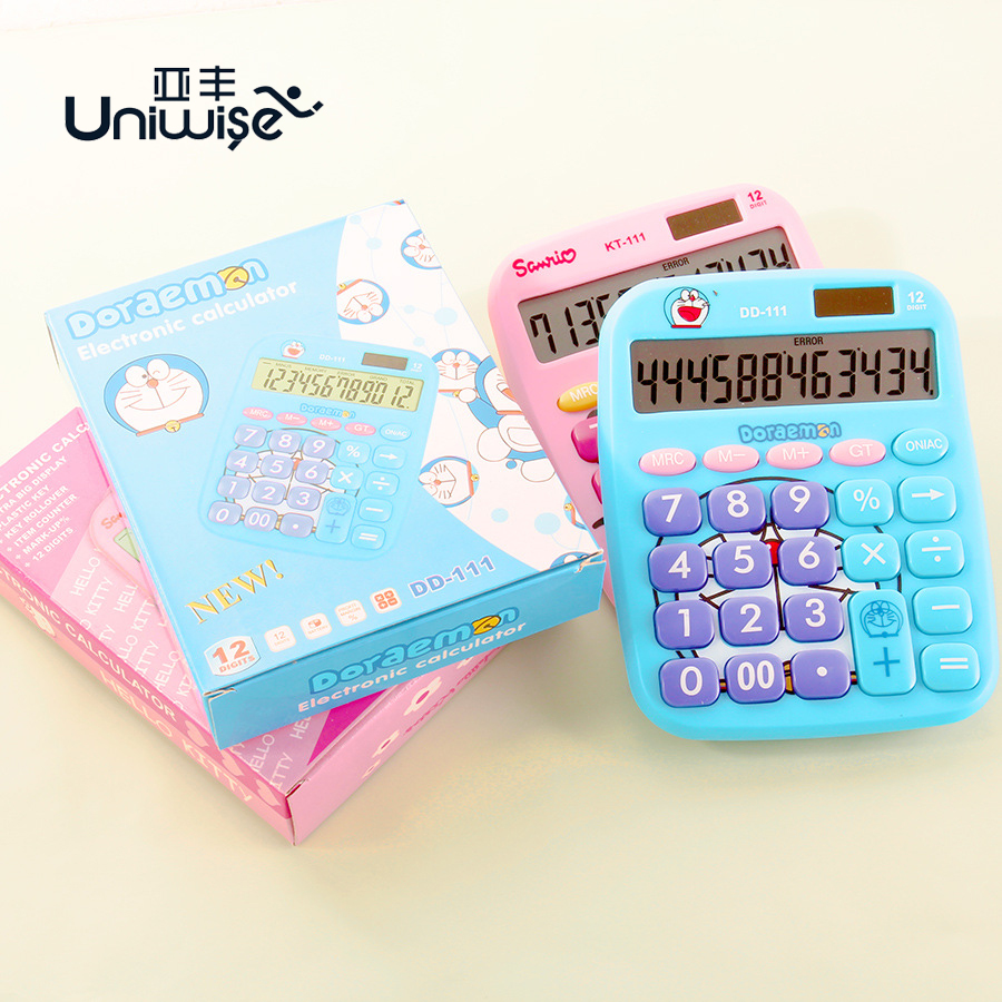 Hello Kitty Doraemon Brand New Desktop Solar Power General Purpose Calculator For Study Office Working No
