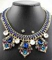 Lo nuevo hechos a mano magnífico popular moda cristal collar de la joyería departamento declaración collar mujeres gargantilla collares colgantes