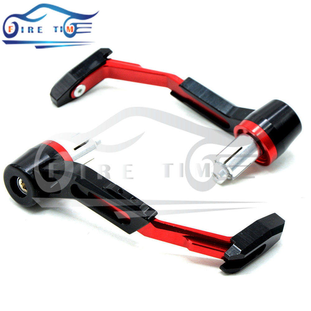 "7/8 inch""Adjustable Red Motorcycle Handle Bar Grips Guard Brake Clutch Levers Protector For Yamaha YZF R1 R6 Tmax 500 inch"