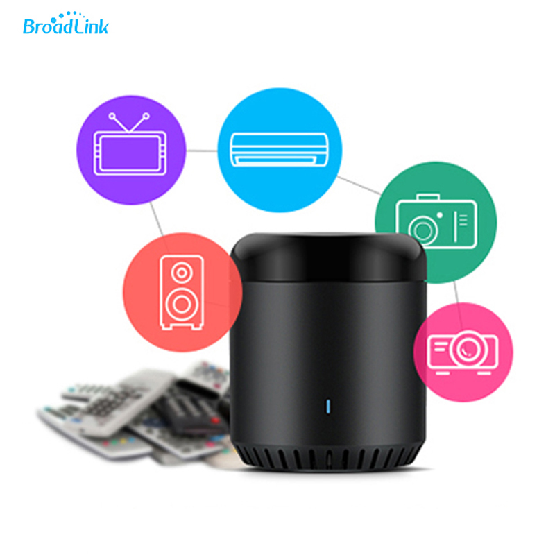 Broadlink Rm Black Bean Home Universal Intelligent Wifi Ir 4 G Wireless Remote Control Switch Phone Control for Smart Home broadlink us tc2 wifi touch switch 3gang 110 220v for rm2 rm pro universal remote controller wifi ir rf wireless control 433 315