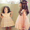 Baby Children Clothing New Autumn Sweet Lace Girls Princess Dresses Flower Girls Wendding Dress Baby Girls Party Clothes CE125