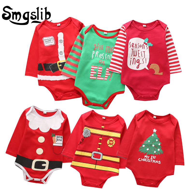 New born baby clothes Christmas baby clothes long sleeve onesie baby boy Girls fall Winter infant   Romper   Jumpsuit Outfit Clothes