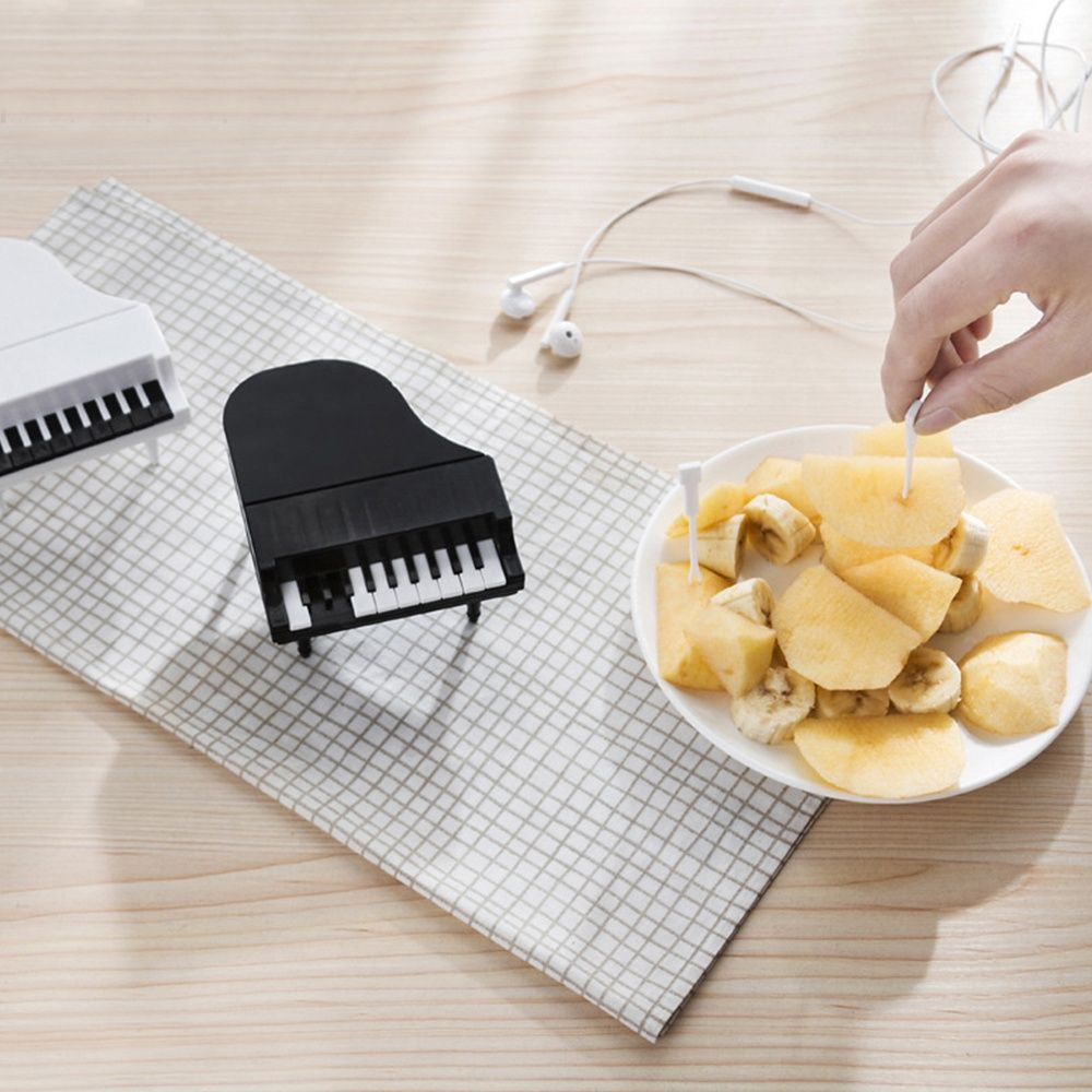 Cute Piano Shaped Cake Fruit Snack Dessert Forks Party Home Kitchen Decor