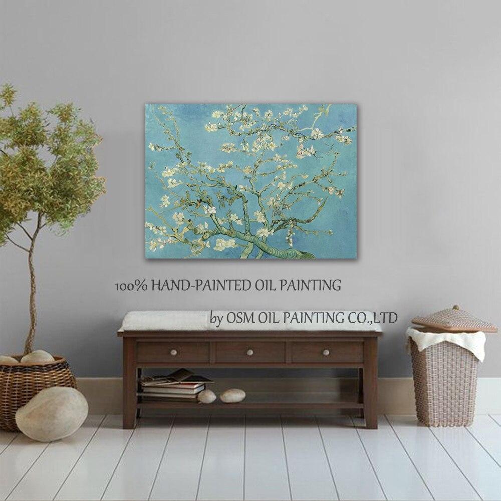 Ev ve Bahçe'ten Resim ve Hat'de Sanatçı El Yapımı Yüksek Kaliteli Vincent Van Gogh Badem Çiçeği Yağlıboya Tuval Üreme Badem Çiçeği Yağlıboya'da  Grup 2