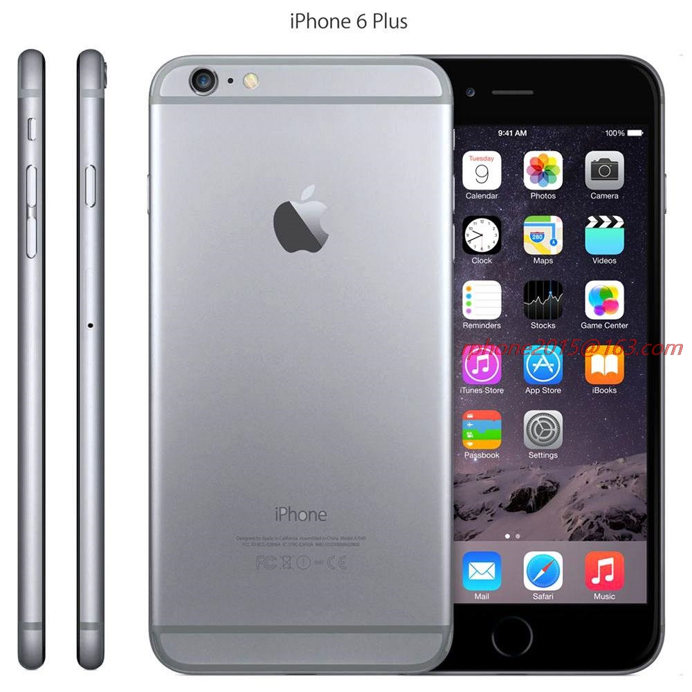 Apple iPhone 6 Plus Original 16gb Nfc Fingerprint Recognition 8MP Used WCDMA Camera IOS title=