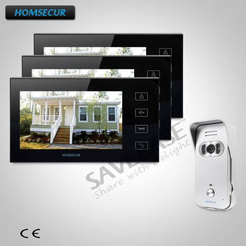 HOMSECUR 7 Wired Video&Audio Home Intercom with Russian Local Delivery ...