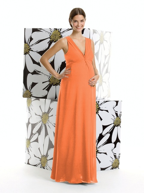 Prom Dresses 2015 Pregnant Woman Orange Formal Cheap A Line Floor