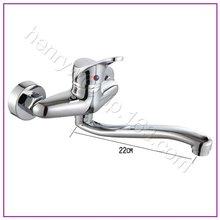 L16358-Роскошные Хромированная Отделка Настенные Горячей и Холодной Воды Латунный Кран Для Раковины