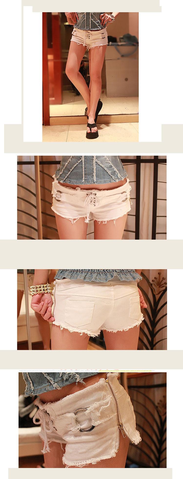 Adofeeno Летний стиль Джинсовые шорты для Для женщин тонкий Для женщин короткие Feminino черный, белый цвет