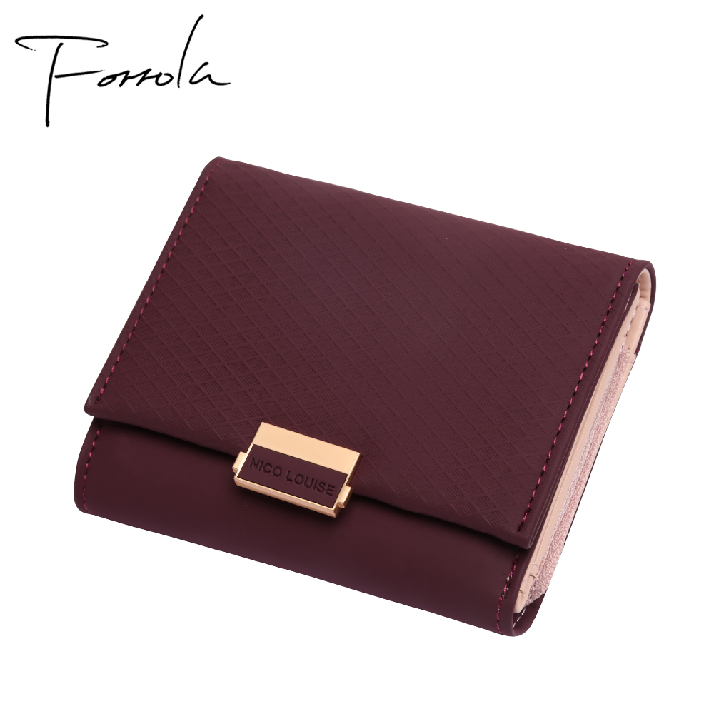 2018 luxus Brieftasche Weibliche Leder Frauen Leder Geldbörse Plaid Brieftasche Damen Heißer Ändern Karte Halter Münze Kleine Geldbörsen Für Mädchen