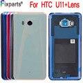 Оригинальный Новый чехол для HTC U11  чехол для аккумулятора с линзами для камеры  стеклянный чехол для задней крышки для HTC U11  U-3w  Задняя стекля...