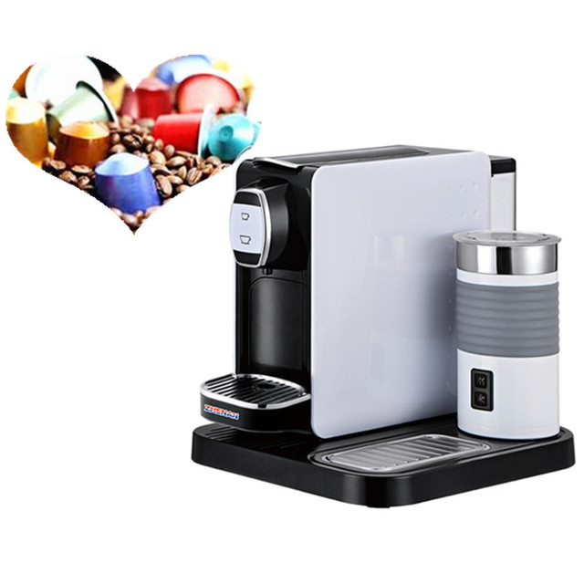 19 Bar Automatic Espresso Coffee Maker Capsule Machine With Milk Frother For Home Or Office