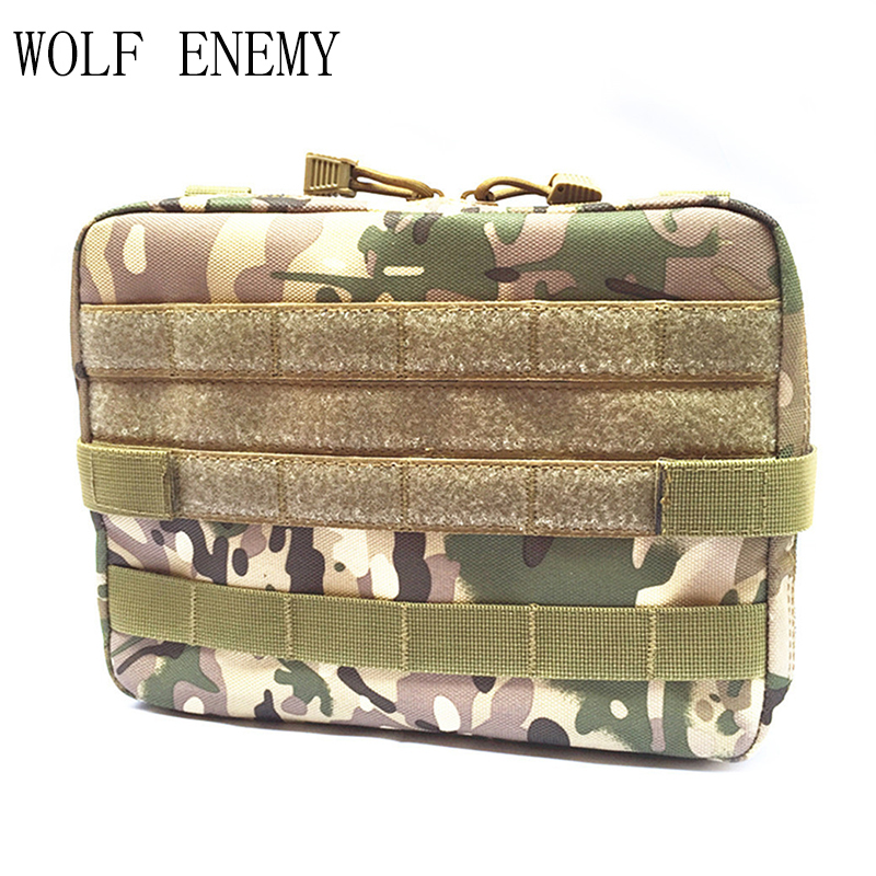 Outdoor Military MOLLE Admin Pouch Tactical Pouch Multi Medical Kit Bag Utility Pouch for Camping Walking Hunting