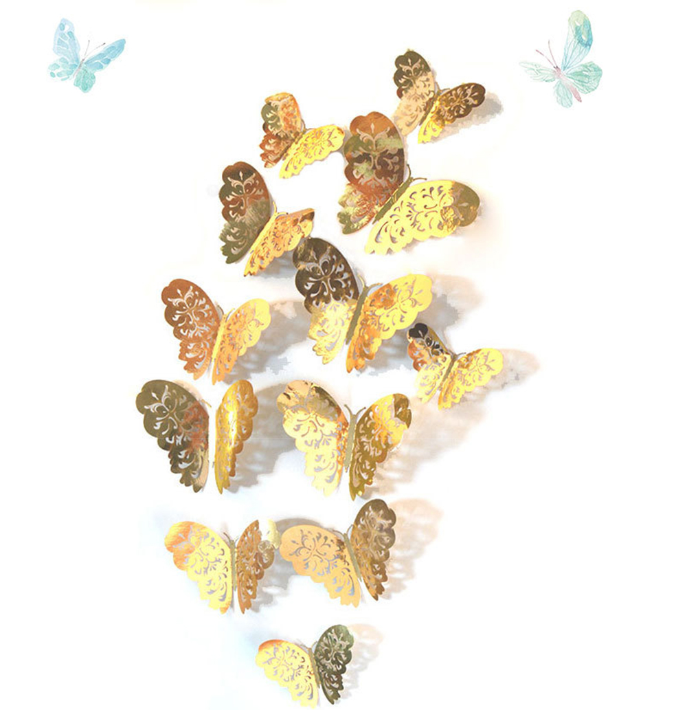 Butterfly Home Deco Wall Stickers 12 PCS 3D Simulation Decoration ...