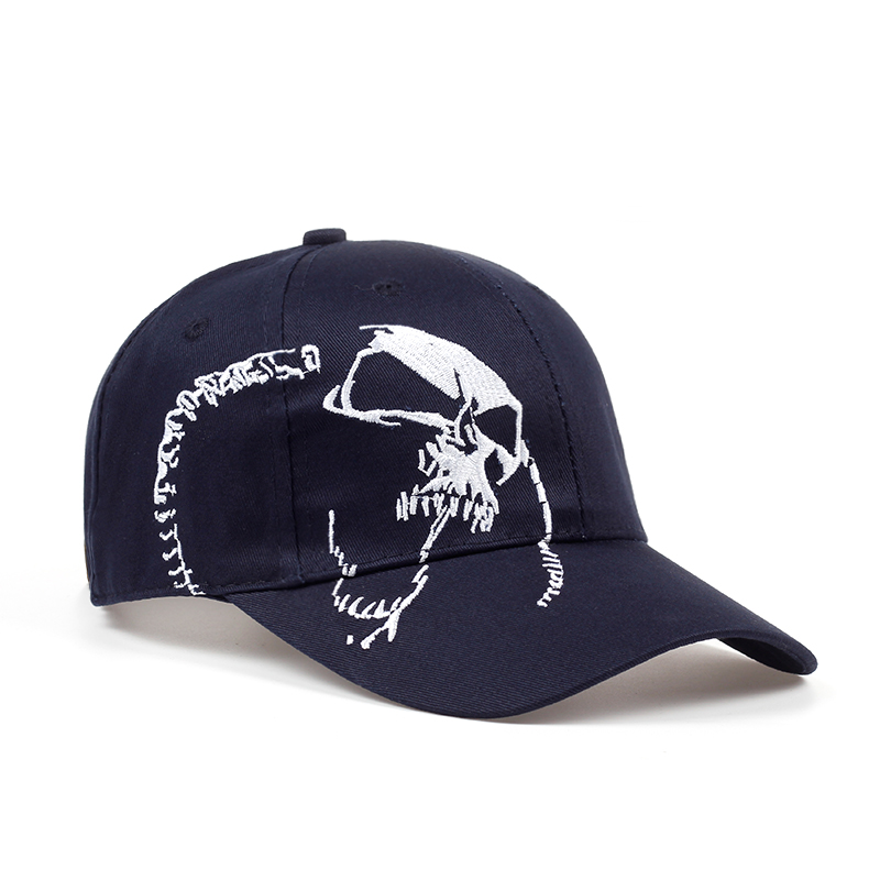cdd8386686e High Quality Unisex 100% Cotton Outdoor Baseball Cap Skull Embroidery  Snapback Fashion Sports Hats For Men   Women Cap 2018 new