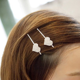 South Korean jewelry hair lace top clip to  new  love hair clips