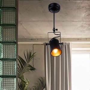 Image 2 - Lámpara colgante Industrial Vintage para Loft lámpara americana, para restaurante, cafetería y bar
