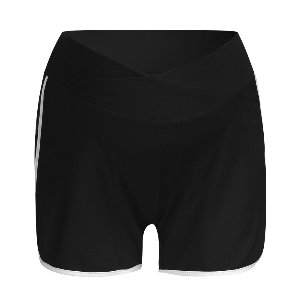 ARLONEET летние шорты для беременных с низкой талией, тонкие хлопковые шорты, Одежда для беременных женщин, повседневная спортивная одежда для беременных - Цвет: BK