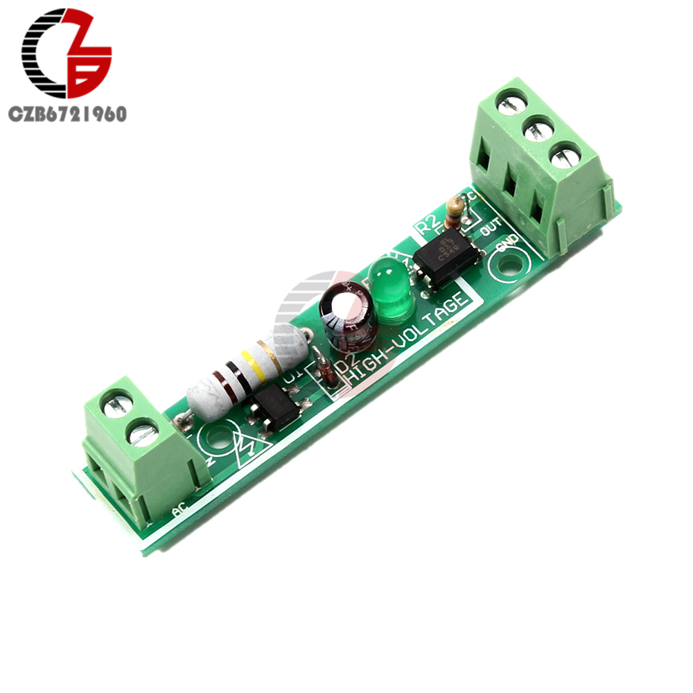 1 Channel AC 220V Optocoupler Isolation Module High Voltage Opto Isolator 3-5V Power Suppply PLC Photoelectricity Coupler Module