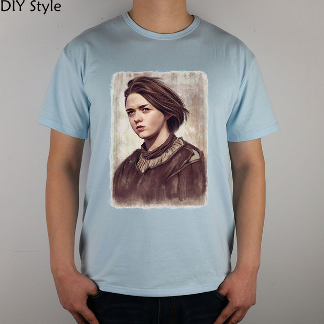 d69f6ac29 LITTLE GIRL ARYA STARK GAME OF THRONES T-shirt top Lycra cotton Fashion  Brand men t shirt high quality