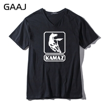 Kamaz Truck Car Logo Men & Women Unisex T Shirts Male V Neck Streetwear Automobile Casual Clothes Fashion Short Sleeve T Shirt