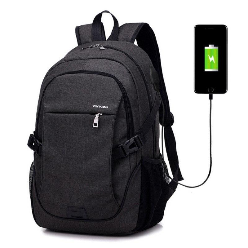 New Design USB Charging Men s Backpacks Male Casual Travel women Teenagers Student School Bags Simple