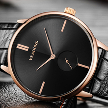 2017 Minimalist Men Watches Male Rose Gold Swedish Design Ultra Thin Quartz Clock Creative Sub Second Hand Dial Whatch Relog