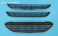 OEM style glossy black painted ABS car front bumper Grill for Ford Fiesta 2013 2016, unsuitable for Zetec S model