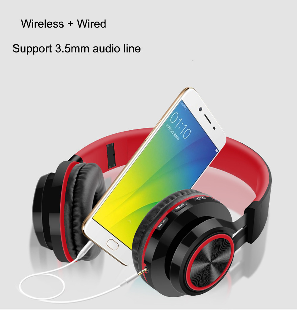 Headphones Gaming Wireless Bluetooth Over Ear Headset Hi-Fi SD/TF With Mic For Phone Sport Ecouteur fone de ouvido 18Dec18