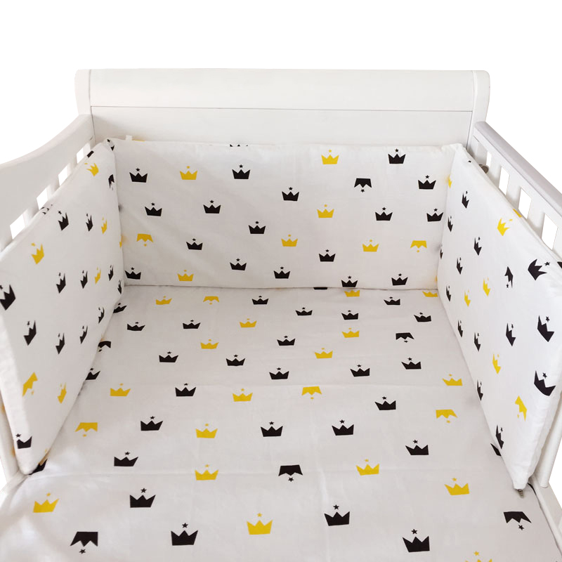 Crown Pattern 180*30 cm Crib Bumpers U/L Shape Baby Bedding Set Cot Around Protector Newborns Bed Head Protect Cushion One Piece рюкзак deuter daypacks stepout 12 dresscode black