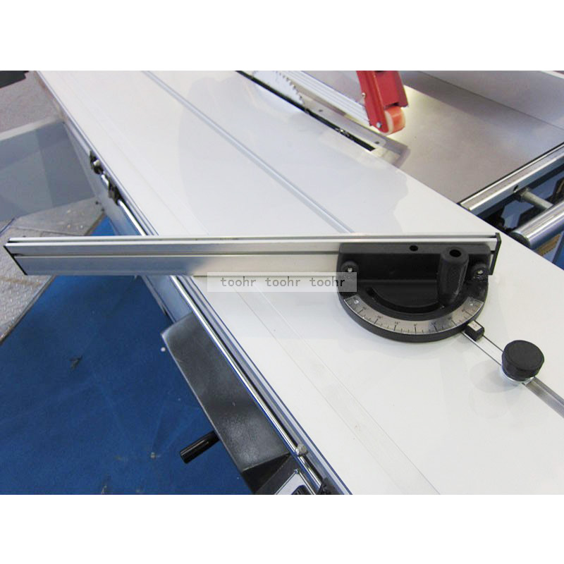 Miter Gauge Table Saw/Router Miter Gauge Sawing Ruler+600mm Aluminium Profile 60mm Height T-tracks Push Rod Woodworking Tools