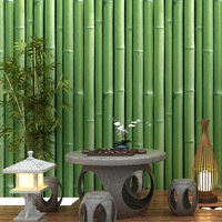 Chinese Style 3D Stereo Bamboo Classic Wallpaper Living Room Tea House Dining Room PVC Waterproof Wall Paper For Walls 3 D Decor