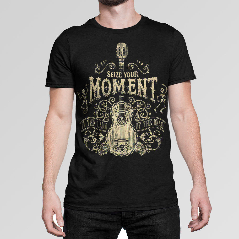 Coco Seize Your Moment Cartoon T-Shirt Mens Womens New Cotton Tee XS-5XL