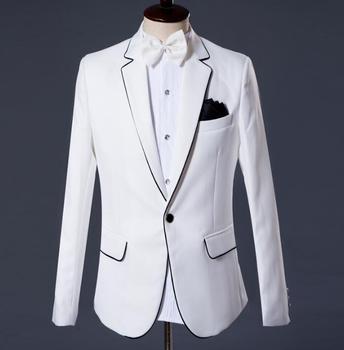 2020 new arrival brand-clothing slim men suit set with pants mens suits wedding groom formal dress suit + pant white fashion