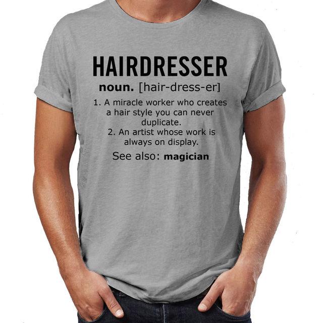 Hairdresser Noun Job Mens Funny T Shirt Christmas Gift T Shirt ...