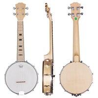 Kmise Banjo Ukulele Ukelele 4 String Ukelele Uke Concert 23 Inch Size Maple Wood