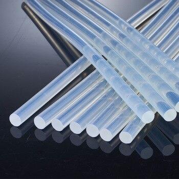 50 pcs/lot 7*190mm bâton adhésif thermofusible bâton de colle transparent bijoux à bricoler soi-même artisanat bâtons d'entretien haute viscosité